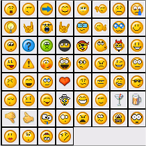 PeerWeb emoticons